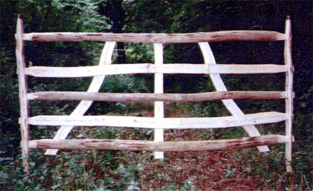 "<span>Ref: A43</span><br>Gate hurdles, made from chestnut and ash, traditionally used to pen sheep; 6' x 3'6"" at £120 each inc. VAT"