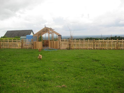 Cleft fencing is the original method by which our ancestors fenced their land thousands of years ago. Still continued today by a few skilled craftsmen, cleft oak or chestnut fencing makes a durable, and very strong, attractive barrier.