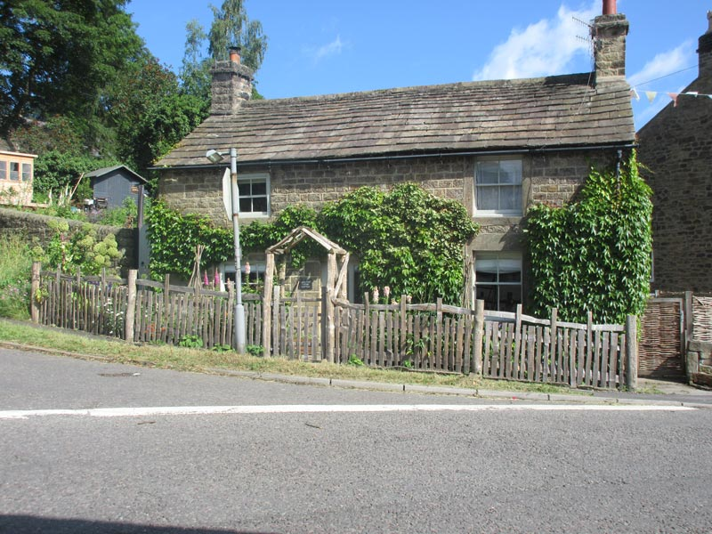 <span>Ref: A37</span><br>A 4' medieval deer fence with matching gate and arch outside this old cottage, Grindleford, Derbyshire; materials approx £37.56/metre inc. VAT