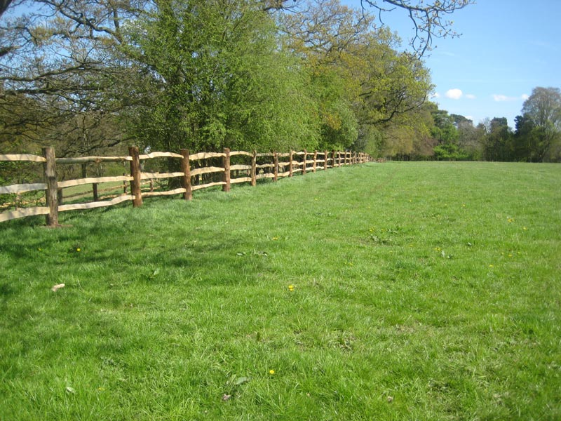 <span>Ref: A14</span><br>We use sturdy materials for our estate fencing, as seen here for The National Trust at Styal Mill, Cheshire; materials approx £20.15/metre inc. VAT.