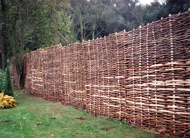 <span>Ref: B4</span><br>Hazel hurdles used to screen off woodland from the more formal garden.